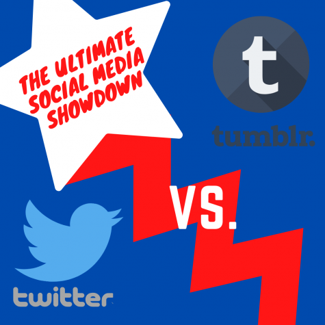 The Social Media Showdown is in full swing! (Photo created by Laney Konz via Canva)