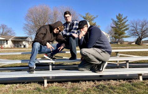 Scott Eternal, Jaqueefus Buckshank, and Rohonda Crinklecrunk posing for the camera.