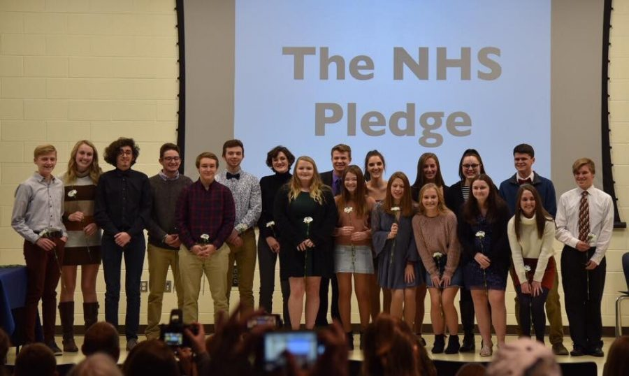 The NHS inductees at the 2019-20 induction ceremony. Photo contributed by Becky Konz.