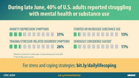 The CDC reported a spike in mental health issues as a result of the pandemic in June 2020 (Photo from the CDC website)