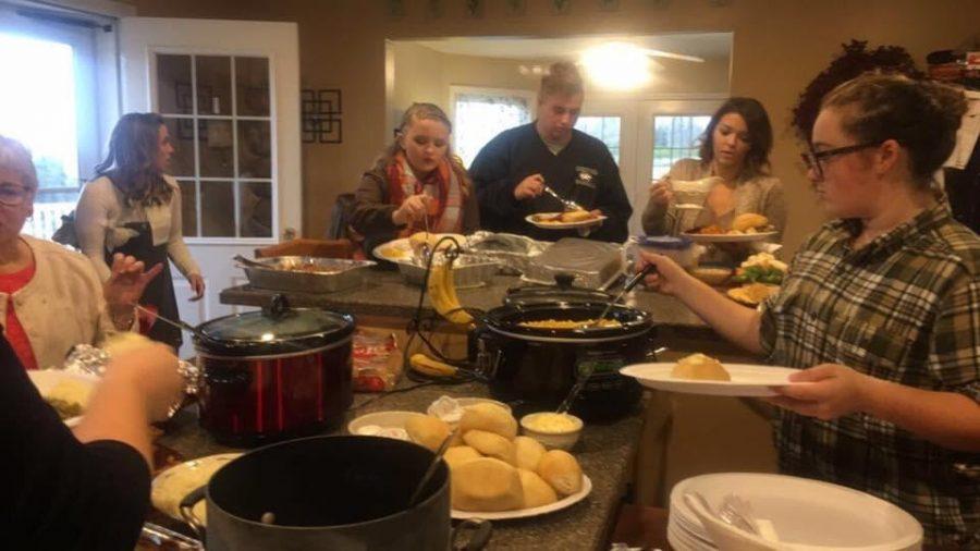 Senior Laney Konzs Thanksgiving gathering years back. (Photo contributed by Laney Konz)