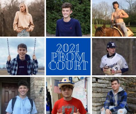 (Left to right) Seniors Austin Chappelow, Parker Ratliff, Nolan Boyle, Camden Ventura, Mason Whiteley, Austin Davis, Cameron Allen, Jacob Jump. (Photo made via Canva)