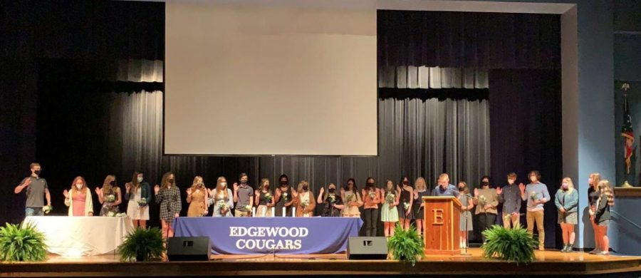 2020-2021 NHS inductees. (Photo contributed by Jacob Schenck)